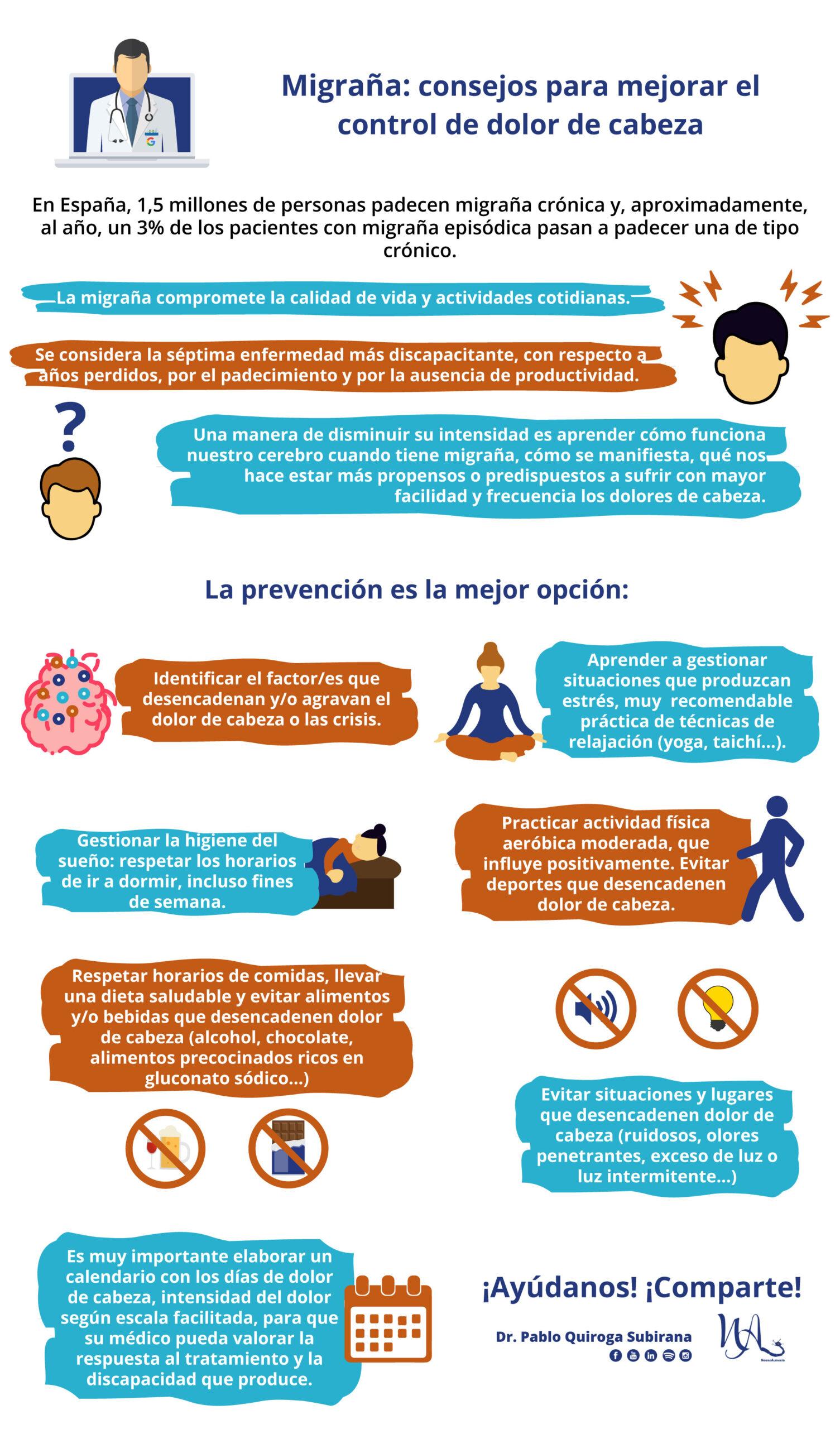Migraña: consejos para mejorar el control del dolor de cabeza